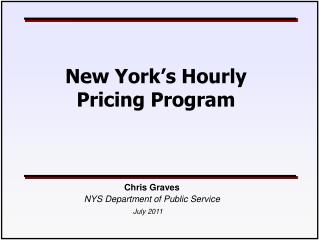 New York�s Hourly Pricing Program