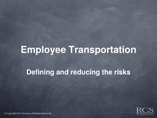 Employee Transportation