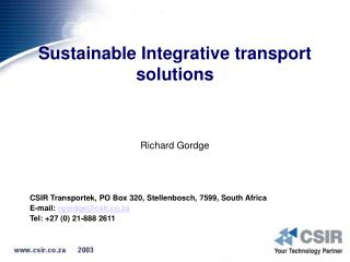 Sustainable Integrative transport solutions
