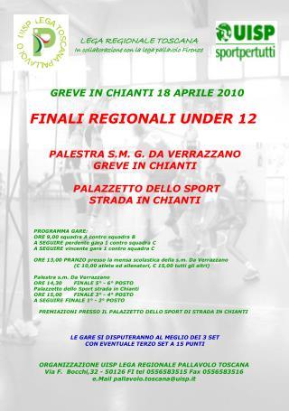 FINALI REGIONALI UNDER 12