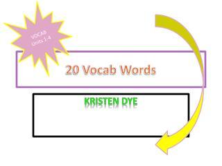 20 Vocab Words