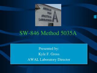 SW-846 Method 5035A