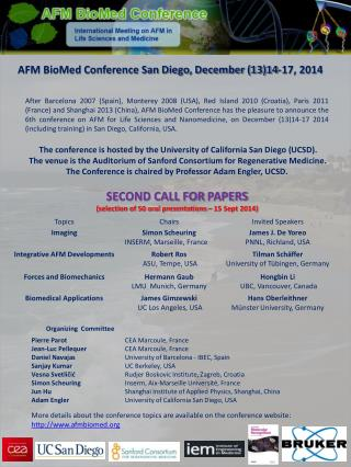 AFM BioMed Conference San Diego, December (13)14-17, 2014