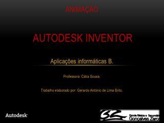 Animação Autodesk inventor