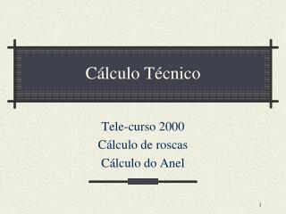 Cálculo Técnico