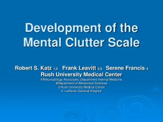 Development of the Mental Clutter Scale