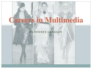 Careers in Multimedia