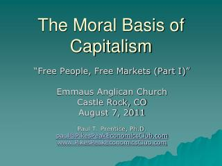 The Moral Basis of Capitalism