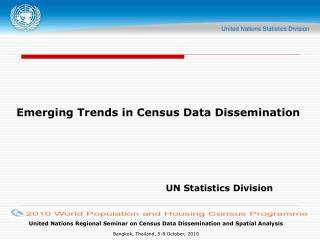 Emerging Trends in Census Data Dissemination