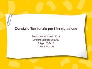 Consiglio Territoriale per l'Immigrazione
