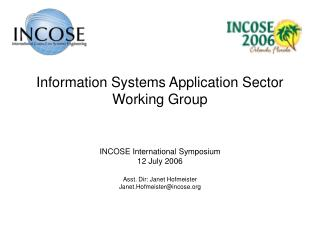 Information Systems Application Sector Working Group