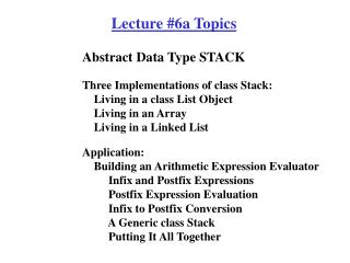 Abstract Data Type STACK