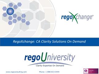 RegoXchange: CA Clarity Solutions On Demand