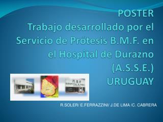 R.SOLER/ E.FERRAZZINI/ J.DE LIMA /C. CABRERA
