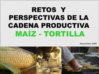 RETOS  Y PERSPECTIVAS DE LA CADENA PRODUCTIVA  MAÍZ - TORTILLA