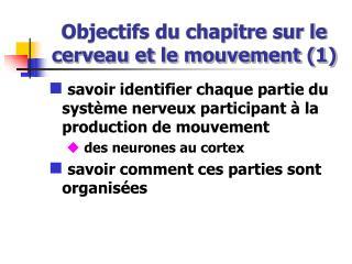 Objectifs du chapitre sur le cerveau et le mouvement (1)