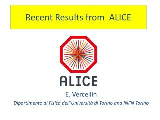 Recent Results from  ALICE