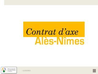 La branche Alès Nîmes de  l ' étoile ferroviaire nîmoise, 47km de gare à gare 6 EPCI concernés