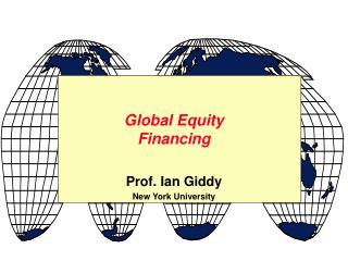 Global Equity Financing