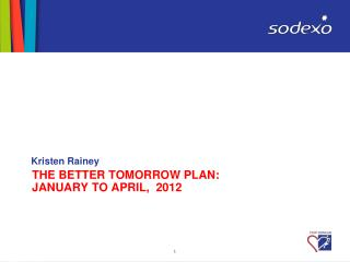 THE BETTER TOMORROW PLAN:  January to APRIL,  2012