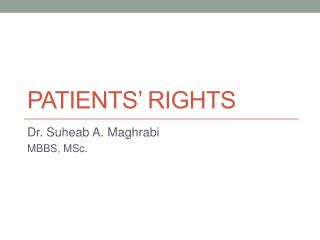 Patients� rights