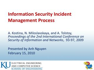 Information Security Incident Management Process