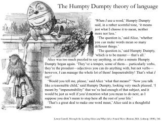 The Humpty Dumpty theory of language