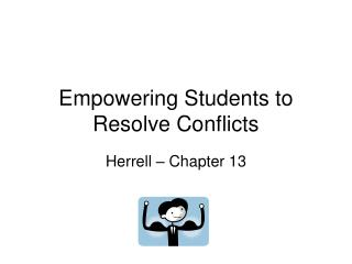 Empowering Students to Resolve Conflicts
