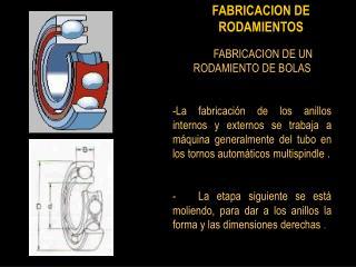 FABRICACION DE RODAMIENTOS