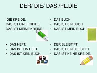 DER/ DIE/ DAS /PL.DIE