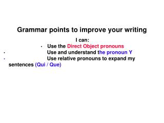 Grammar points to improve your writing