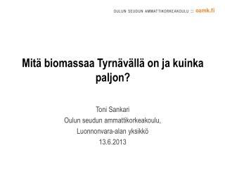 Mitä biomassaa Tyrnävällä on ja kuinka paljon?