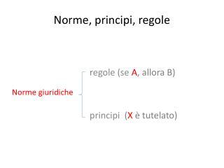 Norme, principi, regole