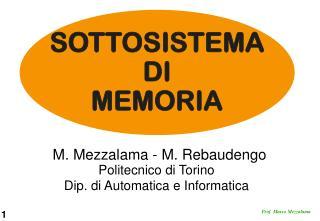 Politecnico di Torino Dip. di Automatica e Informatica