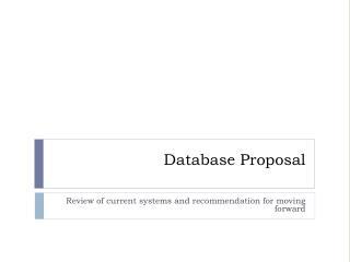 Database Proposal