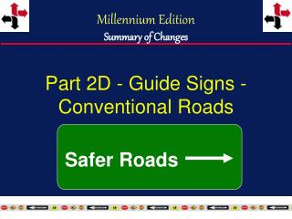 Part 2D - Guide Signs - Conventional Roads