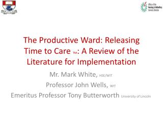 The Productive Ward: Releasing Time to Care  TM : A Review of the Literature for Implementation