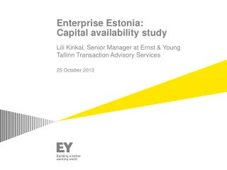Enterprise  Estonia: Capital availability study