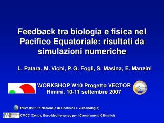 Feedback tra biologia e fisica nel Pacifico Equatoriale: risultati da simulazioni numeriche