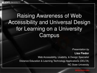 Raising Awareness of Web Accessibility and Universal Design for Learning on a University Campus