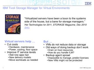 IBM Tivoli Storage Manager for Virtual Environments
