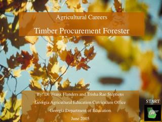 Agricultural Careers Timber Procurement Forester