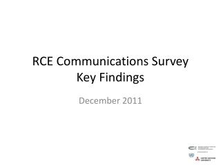 RCE Communications Survey Key Findings