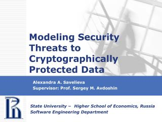 Modeling Security Threats to Cryptographically Protected Data