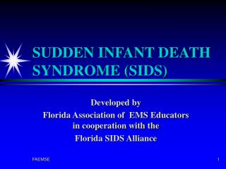 SUDDEN INFANT DEATH SYNDROME SIDS