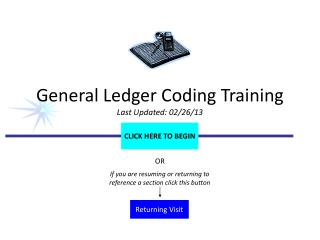 General Ledger Coding Training Last Updated: 02/26/13