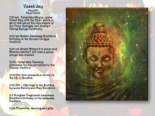 Vesak day May  25th Days Events