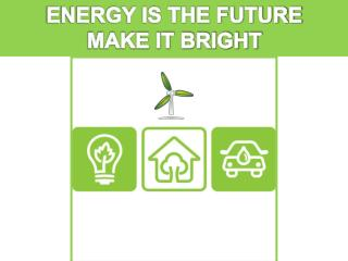 ENERGY IS THE FUTURE MAKE IT BRIGHT