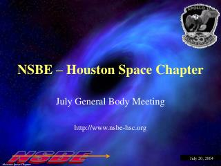 NSBE � Houston Space Chapter