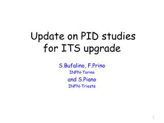 Update on PID studies for ITS upgrade